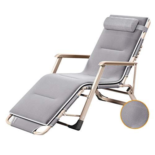 MAMINGBO Tumbonas Tumbonas, Silla de jardín reclinable Sillas de Gravedad Cero Relajante Sillón reclinable Tumbona Plegable for Patio Camping al Aire Libre Playa