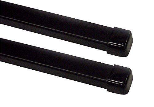 Terzo テルッツォ (by PIAA) ベースキャリア バー 2本入 スクエアバータイプ ブラック 137cm エンドキャップ付 EB6