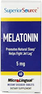Superior Source Melatonin Multivitamins, 5mg, 60 Count by Superior Source