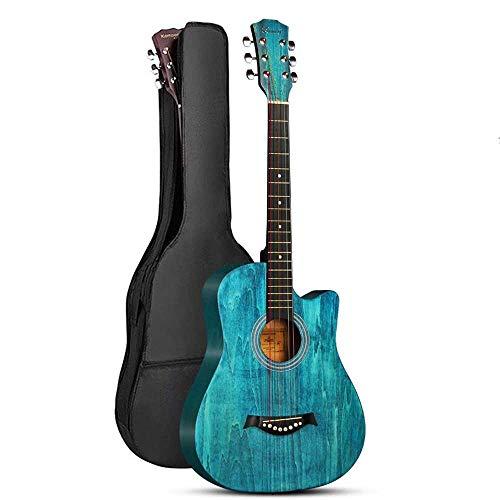 Boll-ATur 38 Zoll / 40 Zoll Mehrfarbig Optional Akustikgitarre Anfänger Volksakustikgitarre Palisander Griffbrett Professionelles Gitarrenspielset Plus Baumwollrucksack Plektren Gitarren Capo