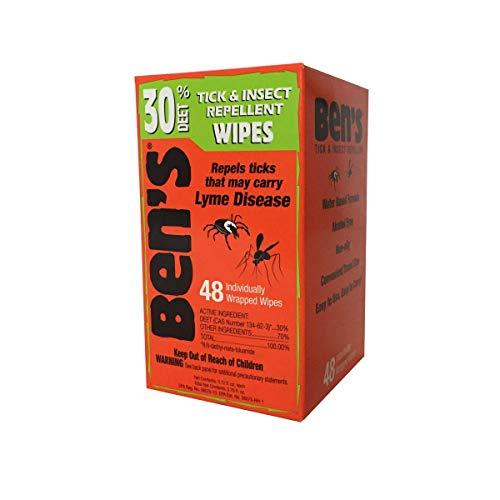 Ben's 30 Deet Mosquito Tick Insect & Bug Repellent Field Wipes - 48 Ct.