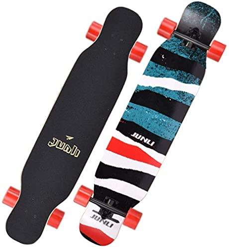 Skateboard Monopatin Niños 7 capas monopatín 42 'Completa Double Warped Skate Board Brush Street Cruiser para adolescentes principiantes para chicas niños niños adolescentes adultos ( Color : B )