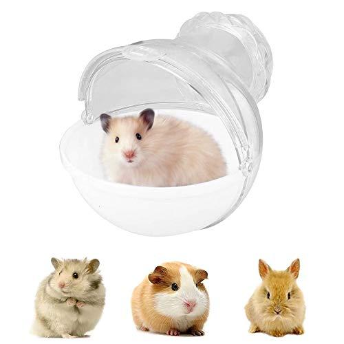 LWZko Hámster Baño, Baño del Hámster Mascotas, Baño Hamster Inodoro, Aseo para Mascotas Hámster, Plástico ABS Desmontable Pequeña Baño Externo para Hámster (Blanco)
