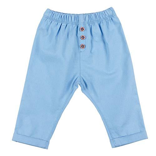 Top Top PONDERADO Pantalones, Azul, 6-9 Unisex bebé