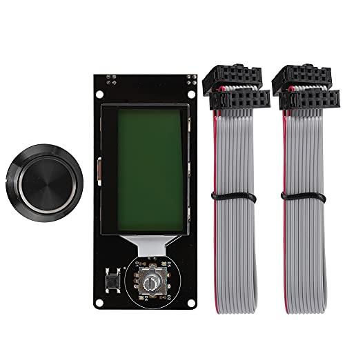 Cuque Accessorio Stampante, Display LCD Stampante, ABS Formato 12864 per la Stampa(Nero su Verde)