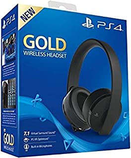 Sony Wireless Headphone Gold For Ps4/ Vr,Black
