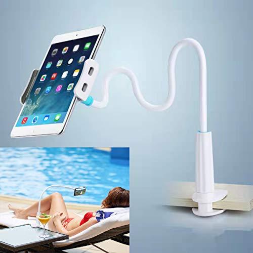 Flexible teléfono Soporte Soporte para tablet, Soporte para teléfono móvil con Cuello de Cisne Universal para Smartphone, Tablet, Cuello de Cisne, Brazo Largo Flexible-80 cm-azul