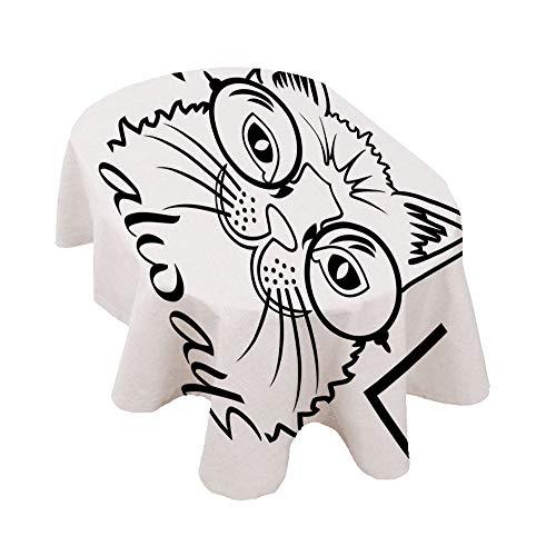 Angel Bags Mantel ovalado de gato, imagen de gatito en gafas grandes,...