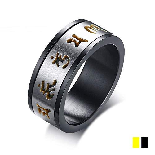 YF ring mantra draaibare creatieve ring van hoogwaardige legering voor dames en heren perfect cadeau 9 Gouden
