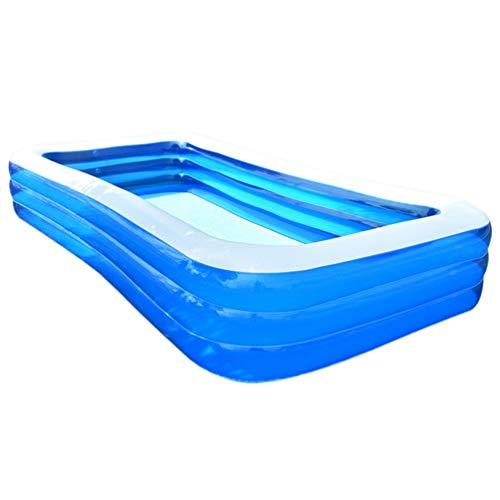 Inicio Piscina Inflable PVC Cuadrado Inflable Tinta ecológica (Azul y Blanco)