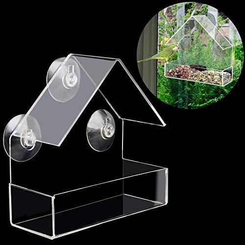 ZKZKK Kreative Haustier-Vogel-Zufuhr Clear Window Eichhörnchen Beweis Bird Feeder-Fenster Vogel-Zufuhren New