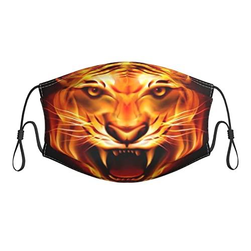 zsst Cubierta de máscara con filtro de la boca Tigre reutilizable ajustable lavable adulto transpirable pasamontañas S
