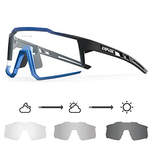 KAPVOE Gafas de Ciclismo Fotocromáticas con TR90 Gafas de Sol Deportivas Mujeres Hombres Running Transparente MTB Bicicleta Accesorios 06