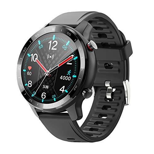 Dccioriu Smart Watch für Damen Herren, Voll Touchscreen Fitness Armbanduhr mit Pulsmesser, Schlafmonitor, Wasserdicht IP67, Schrittzähler, Sportuhr für Android iOS