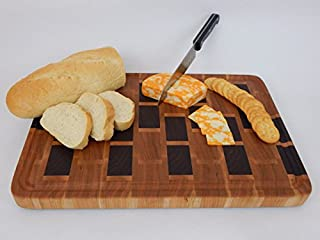 Handcrafted Wood Cutting Board - End Grain Walnut,Cherry and Maple Brick Pattern