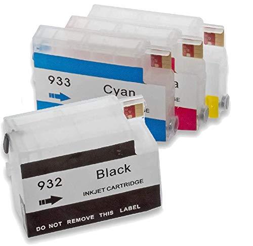 DO-IT-WISER - Set di cartucce vuote compatibili per HP con chip 7510, 7612, 7110, 6700, 6100, 6600 BK, ciano, magenta, giallo