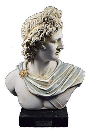 Apollo-Escultura Busto antiguo dios griego de sol y poesía gran artefacto