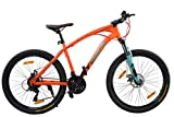Hydra Panther 26 Inches 21 Speed Bike for Adults - 18.5 Inch Frame (Orange)