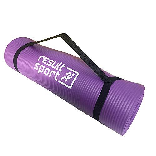 ResultSport  Yogo antiscivolo, con custodia per il trasporto, dimensioni: 183 cm X 61 cm X 1 cm (10') mm di spessore Materassino per esercizi, perfetta per Pilates, Yoga, palestra