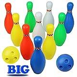 Bolos Infantiles - Juego de Bolos con 10 Bolos y 2 Bolas Colores...