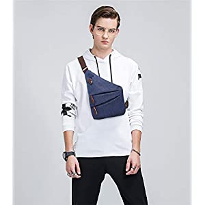 41Ez9VF4UmL. SS300  - FANDARE New Sling Bag Shoulder Crossbody Bag Fiesta Comercio Portátil Viaje Estudiantes Anti-Theft Hombres Impermeable…