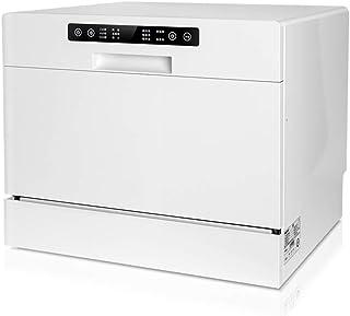 Lavavajillas portátil lavavajillas encimera Lavavajillas Lavavajillas empotrable de dos en uno 1250W de potencia tiene capacidad for 6 Juegos de vajilla modos 5 Lavado kyman