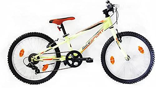 BIKE SPORT LIVE ACTIVE Bikesport Rocky 20' Bicicletta per Bambini Mountainbike, Shimano 18 cambios (Blu Scuro)