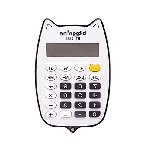 Calculadoras básicas estándar Mini calculadora digital de escritorio de 12 dígitos pantalla LED 1 x AAA calculadora inteligente con pilas Calculadora electrónica de escritorio de 12 dígitos