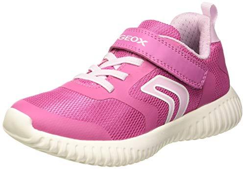 Geox J Waviness Girl a, Zapatillas para Niñas, Fuchsia/Pink C8230, 28 EU