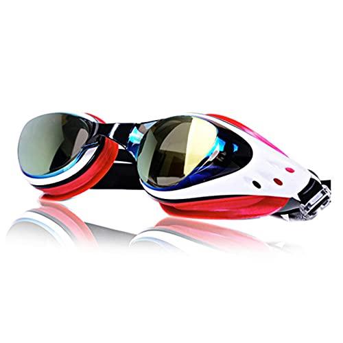 Gafas de buceo de alta definición antivaho, gafas de natación con correa de silicona ajustable, producción UV, antifugas, duraderas y portátiles, unisex