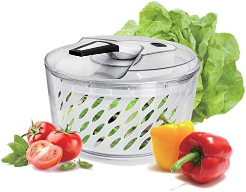 Freshmage Large 6 Quarts Salad Spinner Easy Use Effortless Quick Drying Vegetable Fruit Salad product image