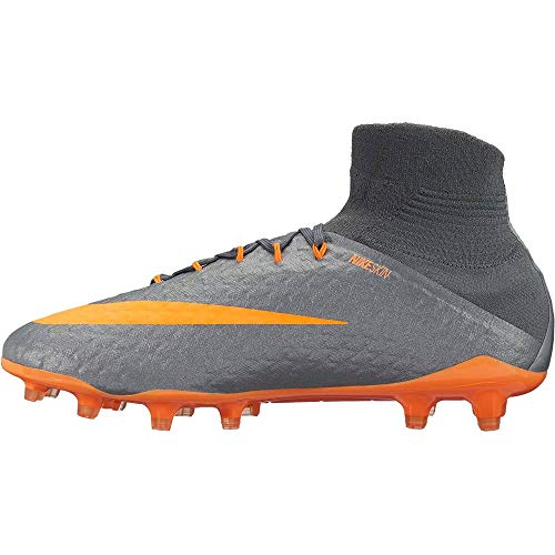 Nike Nike Herren Phantom 3 Pro Df Fg Fitnessschuhe, Mehrfarbig (Dark Grey/Total Oran 081), 44 EU
