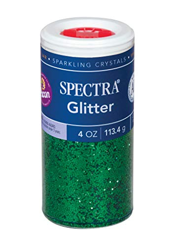 Pacon Spectra Glitter Sparkling Crystals, Green, 4-Ounce Jar (91660)