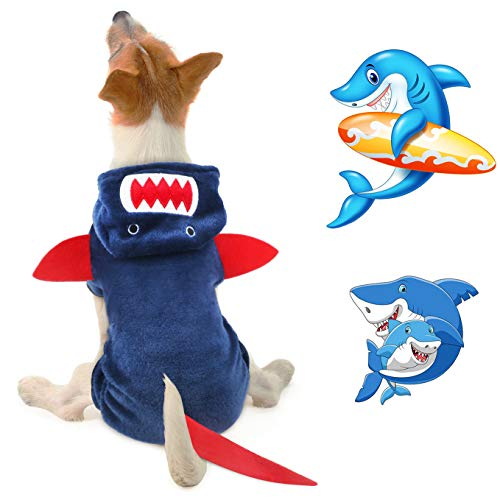 Idepet Dog Clothes Shark Costume Fleece Coat Outfit Jackets Clothing for Dog Cats Puppy Chihuahua Dr - http://coolthings.us