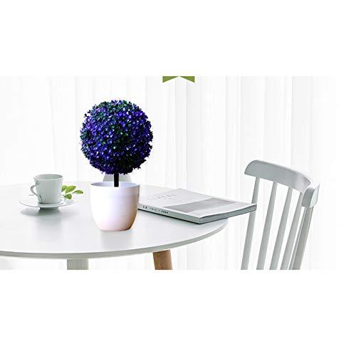 Fansi Unechte Grüne Topfpflanze Künstliche Deko Blume Kunststoff TopfPflanzen Kreativer Miniball vergossen Draussen Balkon Topf Hochzeit Garten Dekoration - 5