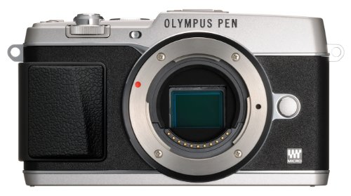 Olympus E-P5 16.1 MP Mirrorless Digital Camera with 3-Inch LCD- Body Only (Silver with Black Trim)