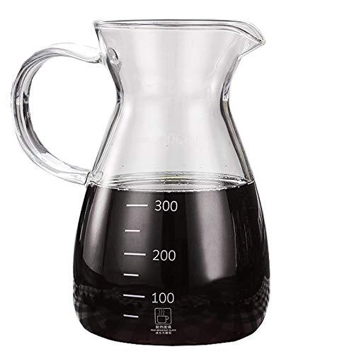 YQQ-Cafetière Coffee Pot Decanter/Carafe régulier - Nouvelle Forme de Verre Design - Poignée Ergonomique - 6 Capacité Coupe