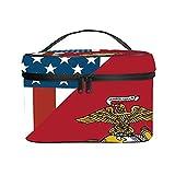 Bolso cosmético portátil del Viaje de Las señoras,Bolso del Maquillaje,USMC Militar del Cuerpo de Marines de EE. UU.,Bolsa de Aseo multifunción Que recibe