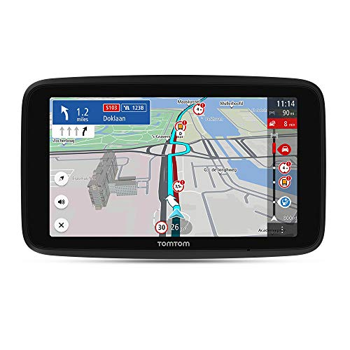 TomTom Truck Sat Nav GO Expert, 7 Inch HD Screen, with Custom Large Vehicle Routing and POIs, Traffic Congestion Thanks to TomTom Traffic, World Maps, Live Restriction Warnings, Quick Updates Via WiFi