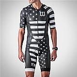 Homme Combinaison Triathlon Tenue Trifonction Athlétisme Vetement Sport Ensemble pour Cyclisme Courir Natation