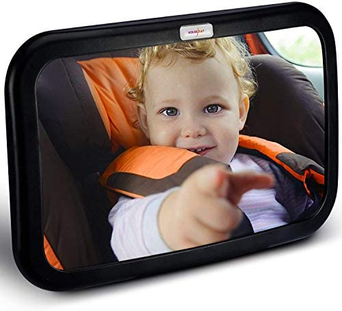 HOUSEDAY Baby Car Mirror Stable Wide View Infant in Rear Facing Seat Safety Shatterproof Crash product image