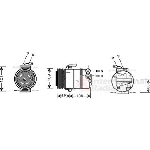 VAN WEZEL 3700K317 Compressore, Climatizzatore