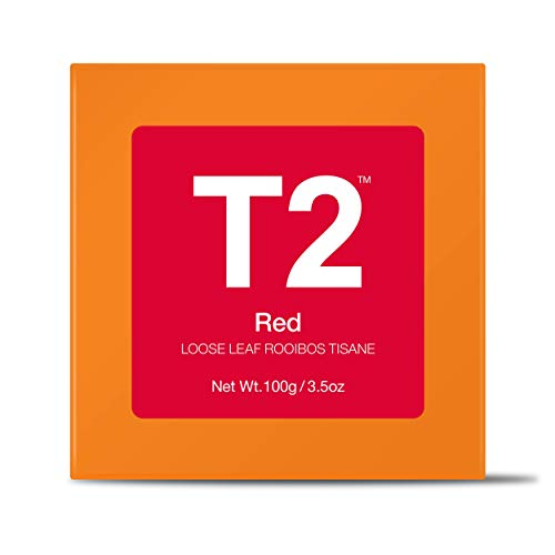 T2 Tea Red 3.5Oz Loose Leaf Rooibos Tisane - Loaded with Antioxidants, Naturally Caffeine Free