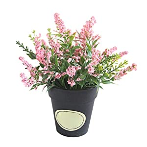 Simulation Lavender Artificial Flowers Pot Bonsai Fake Plants DIY Living Room Wedding Party Easter Decor Pink