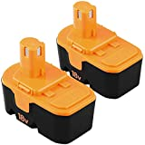 Upgraded to 4.0Ah P100 Ni-Mh Replacement Battery Compatible with Ryobi 18 Volt Batter ONE+ P101 ABP1801 ABP1803 BPP1820 130224007 Cordless Power Tools-2 Pack
