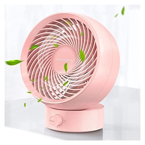 Ventilador Portátil, Ventilador de escritorio de USB Pequeño Mesa de escritorio personal Ventilador con viento fuerte Tranquilo Operación Portátil Mini Mini fanático de la cama plegable para el dormit