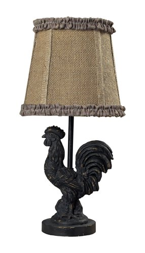 Dimond Lighting 93-91392 Mini Rooster Table Lamp, 5' x 7' x 15'