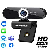 Autofocus Webcam with Microphone, Trobing 1080p Full HD Web Camera USB Wide Screen Webcam Streaming Computer Camera for Desktop PC Laptop, Video Calling, Conferencing