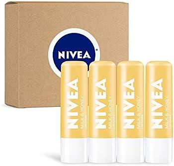 4-Pack Nivea Milk & Honey Lip Care 0.17 oz Tube