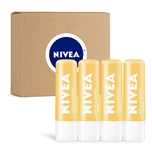 NIVEA Milk & Honey Lip Care 4-Pack Now $7.13 (Was $11.96)